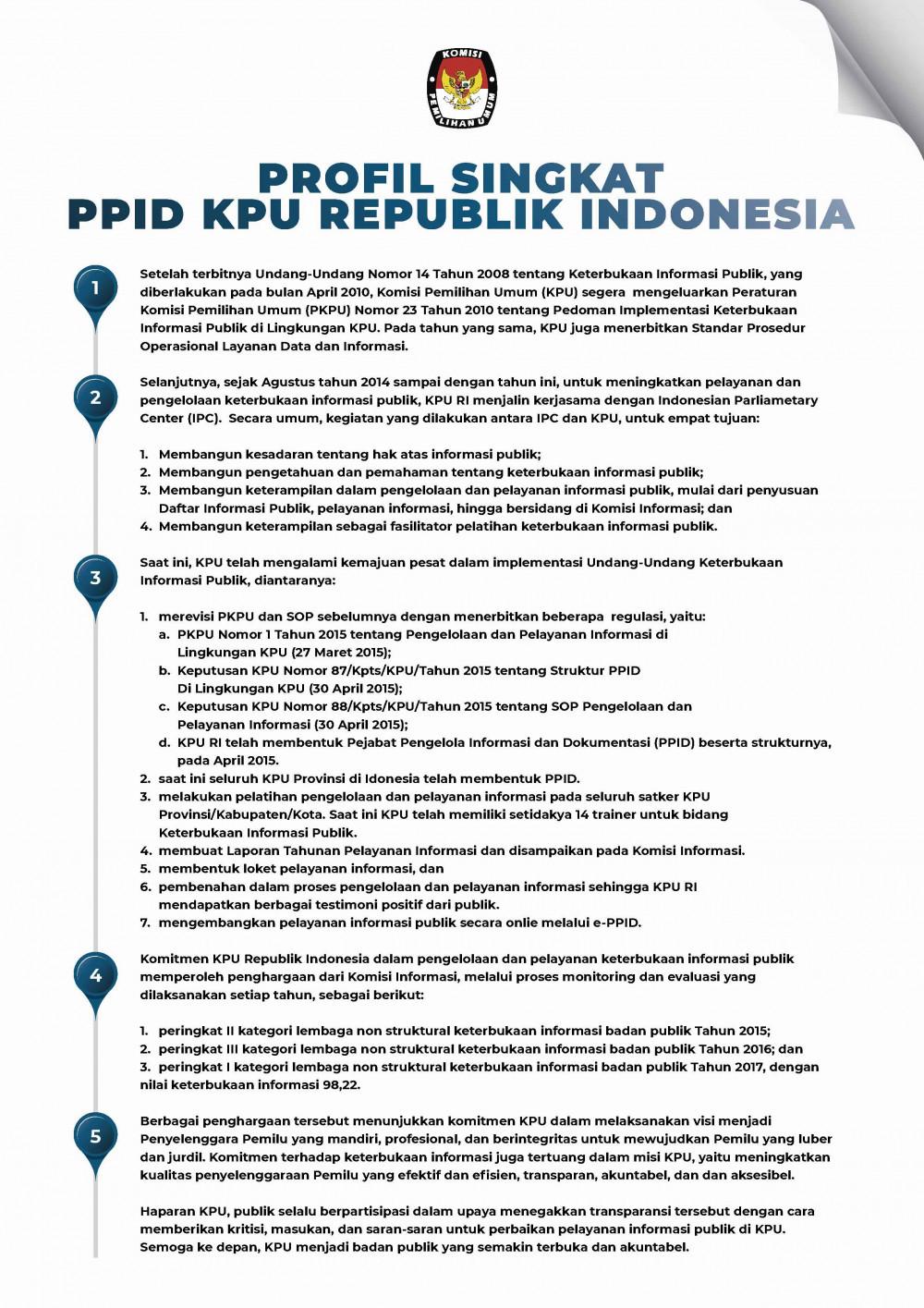 Profil Singkat PPID
